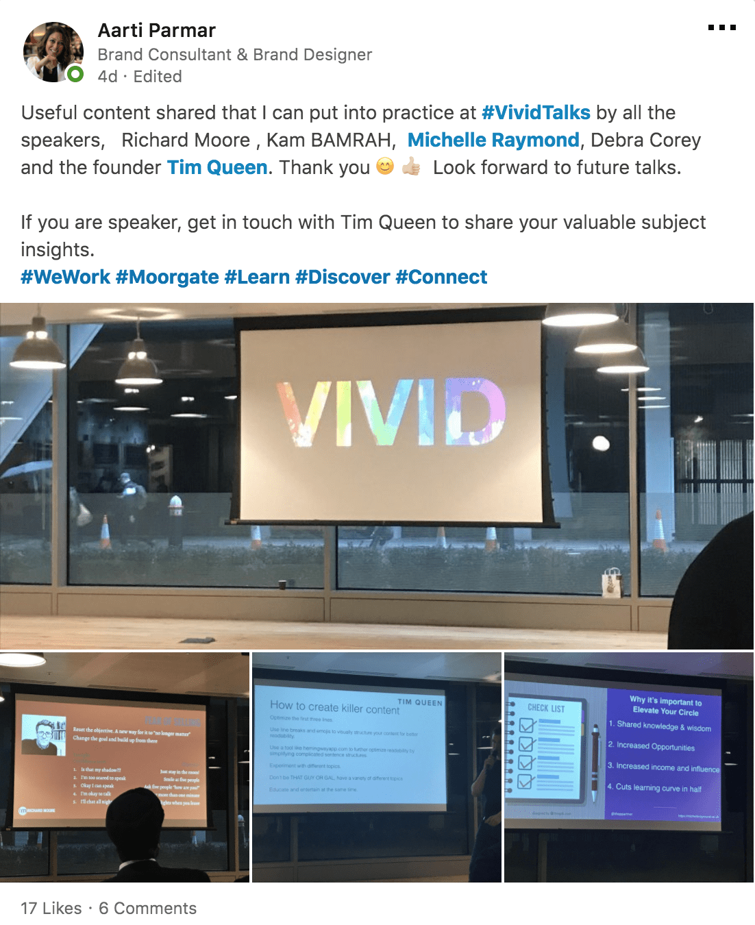 Vivid Talks Growth Hacking Success at WeWork Moorgate London on March 29 2018 Praise - 07