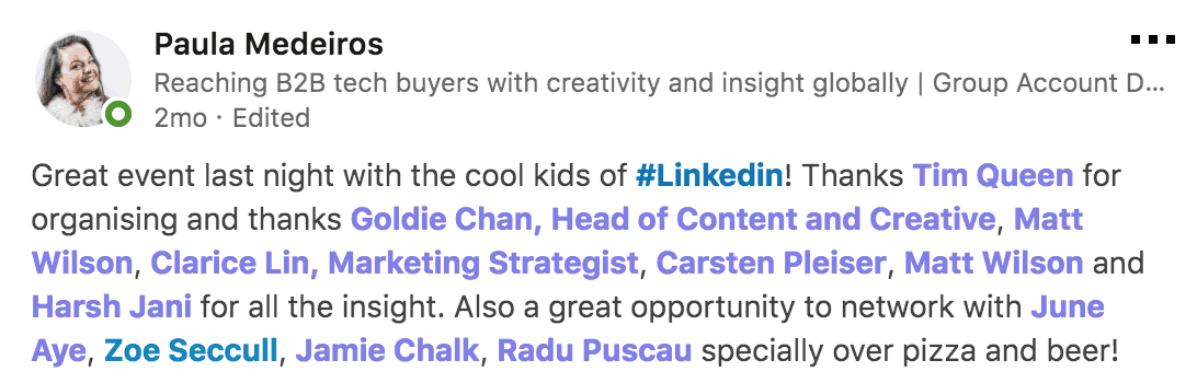 Vivid Talks The Cool Kids of LinkedIn at WeWork Hammersmith London on January 31 2018 Praise - 01