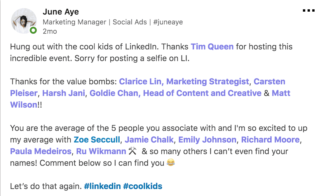 Vivid Talks The Cool Kids of LinkedIn at WeWork Hammersmith London on January 31 2018 Praise - 02