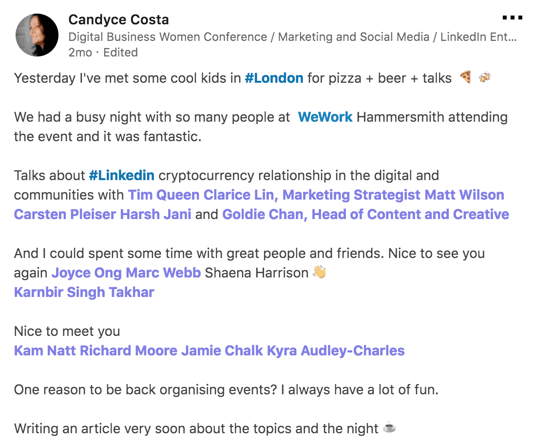 Vivid Talks The Cool Kids of LinkedIn at WeWork Hammersmith London on January 31 2018 Praise - 04