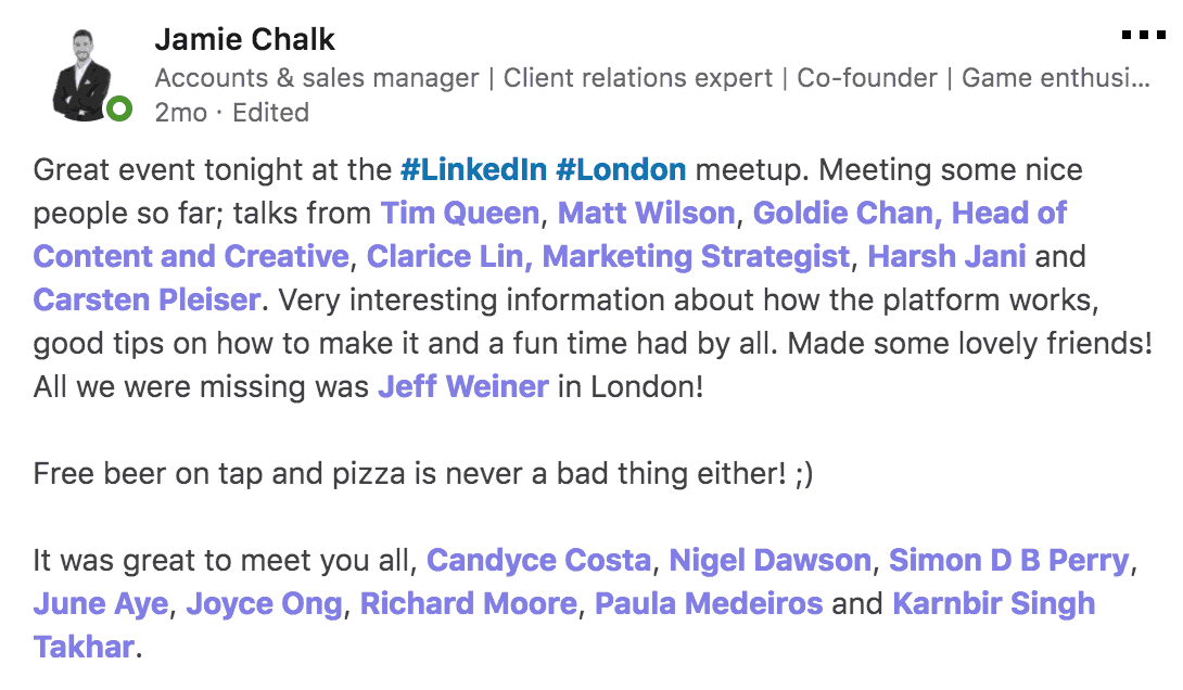 Vivid Talks The Cool Kids of LinkedIn at WeWork Hammersmith London on January 31 2018 Praise - 05