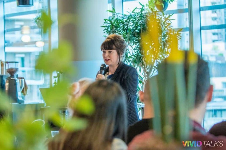 Esther Stanhope Vivid Talks WeWork Aldgate April 25 2018 by Steven Mayatt DSC_0134